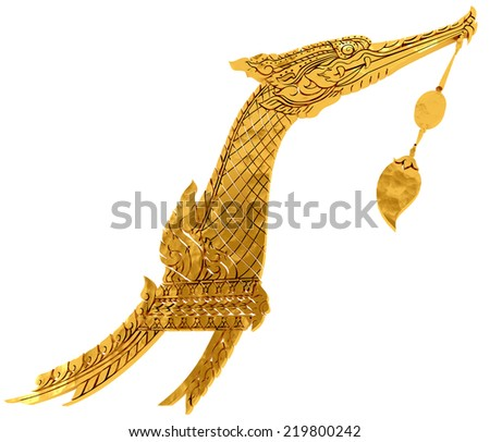 Royal Barge Suphannahong, Bangkok, Thailand - stock photo