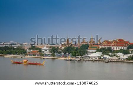 Royal Barge Suphannahongse,wat phra kaew,bangkok Thailand - stock photo