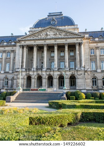 royal Belgium palace in brussels