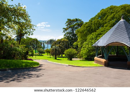 Royal Botanic Gardens Sydney Australia - stock photo