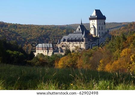 Royal Castle Karlstejn, Bohemia - stock photo