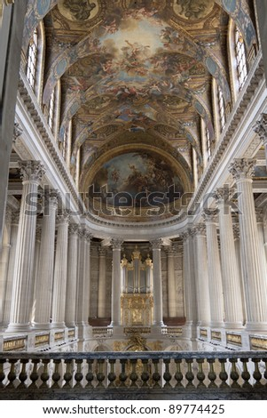 Royal Chapel in the Versailles Chateau - stock photo