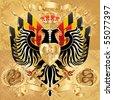 Royal Coat of Arms. JPEG version. - stock photo