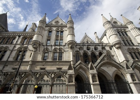 Royal Court of Justice on the Strand in London - stock photo