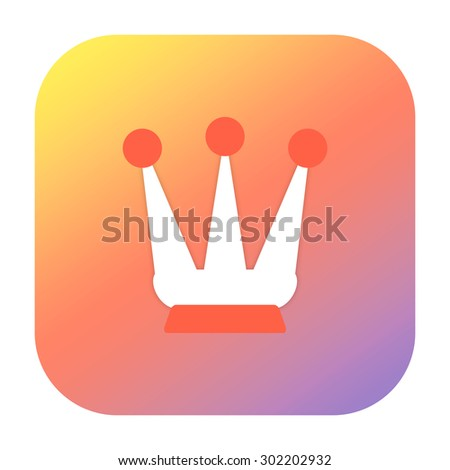 Royal crown icon - stock photo