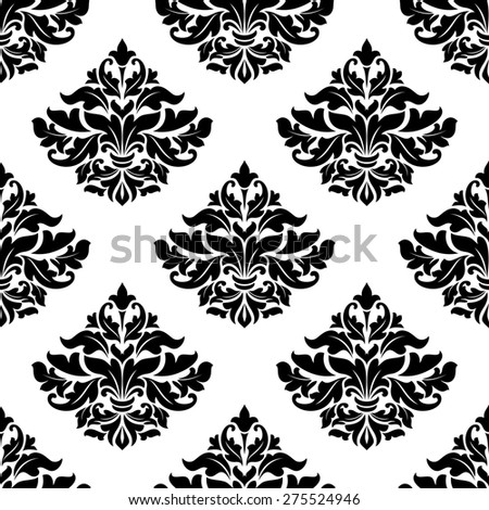 Royal damask seamless pattern for wallpaper and textile design - stock photo