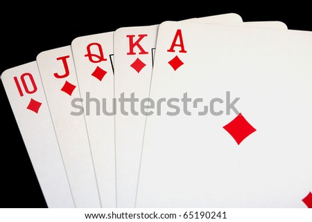 Royal Flush diamonds poker hand