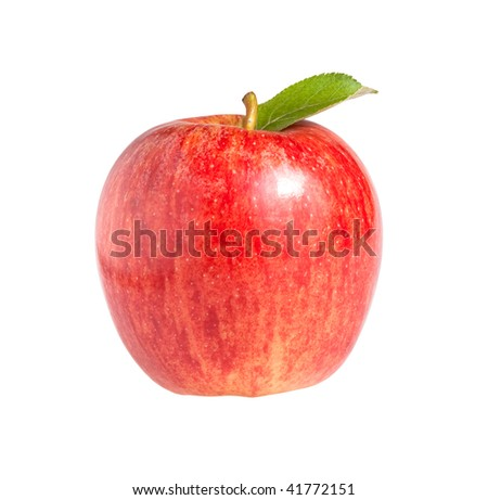 Royal Gala apple isolated on a white background. - stock photo