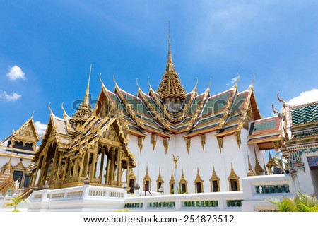 Royal Grand Palace in Bangkok, Asia Thailand  - stock photo