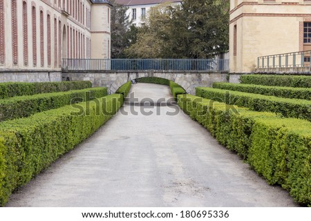 Royal hunting castle  in Fontainebleau - France. - stock photo