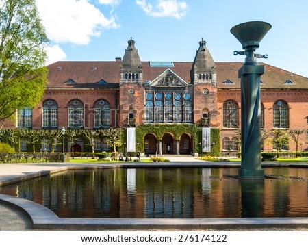 Royal Library Garden, Copenhagen, Denmark - stock photo
