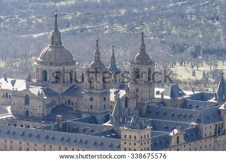 Royal Monastery of San Lorenzo de El Escorial, Madrid (Spain) - stock photo