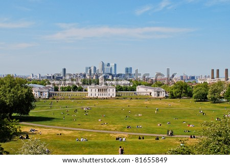Royal Naval College in Greenwich in London, England - stock photo