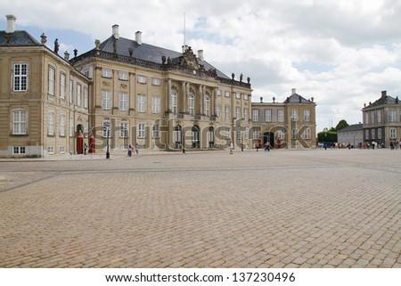 Royal Palace Amalienborg, Copenhagen - stock photo