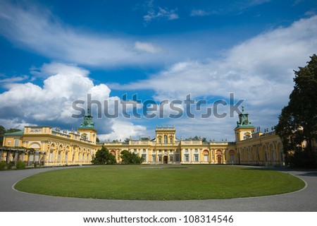 Royal palace in Wilanow, Poland