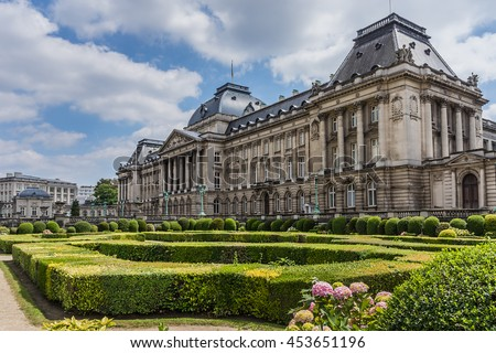 Royal Palace of Brussels (Palais Royal de Bruxelles, 1783 - 1934) - official palace of King and Queen of Belgians in centre of nation's capital Brussels, Belgium.