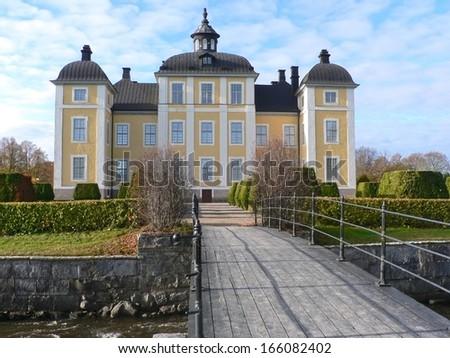 Royal palace of Stromsholm, near Stockholm - stock photo