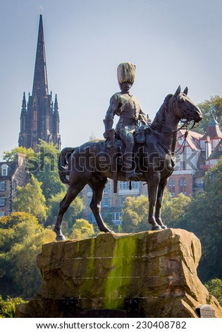 Royal Scots Grey Monument - stock photo