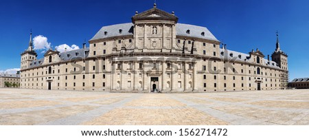 Royal Seat of San Lorenzo de El Escorial is a Palace located close to Madrid, Spain - Historical Residence of King of Spain