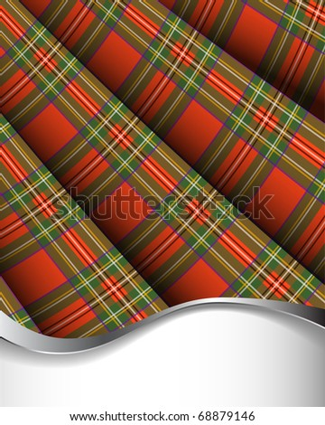 Royal Stewart tartan. Scottish plaid background - stock photo