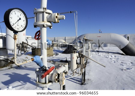 ROYARKA, UKRAINE - JAN: 13: A gauge continues to show zero pressure hours after Russia agreed to once again ship gas through Ukraine to Europe at a  natural gas pumping station in Boyarka, Ukraine, on Tuesday,  January 13, 2009.