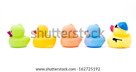 rubber duck,s  - stock photo