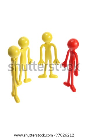 Rubber Figures on White Background - stock photo