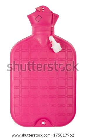 Rubber hot water bottle - stock photo