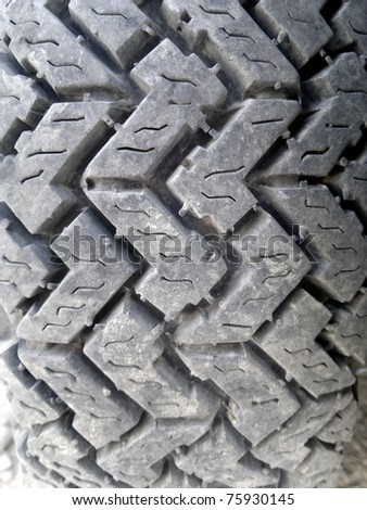 Rubber off-road tyre - stock photo