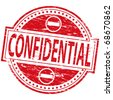 "Rubber stamp illustration showing ""CONFIDENTIAL"" text - stock vector"