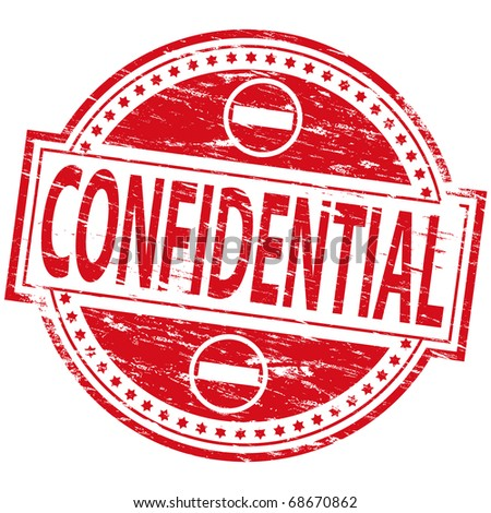 """Rubber stamp illustration showing """"CONFIDENTIAL"""" text - stock photo"""
