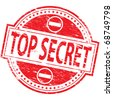 "Rubber stamp illustration showing ""TOP SECRET"" text - stock vector"