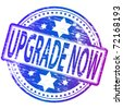 "Rubber stamp illustration showing ""UPGRADE NOW"" text - stock vector"