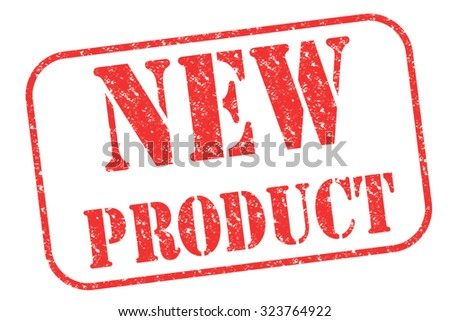 """Rubber stamp """"NEW PRODUCT"""" on white - stock photo"""