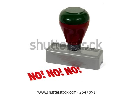 rubber stamp - NO! - stock photo