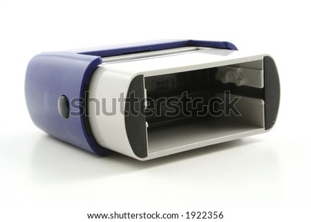 Rubber stamp on a white background - stock photo
