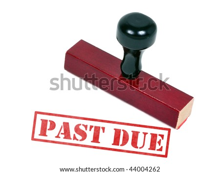 Rubber stamp with the word words past due - stock photo
