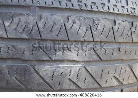Rubber tire tread texture - stock photo