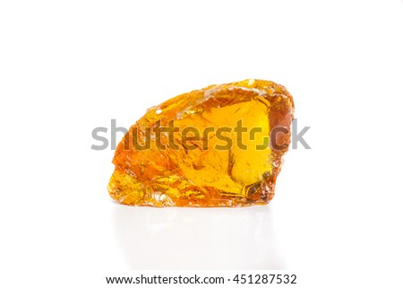 Rubber wood, yellow rubber from trees, wood resin. - stock photo