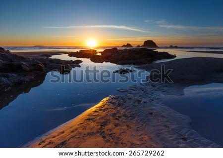 Ruby Beach - stock photo