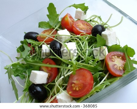 rucola salad6 - stock photo