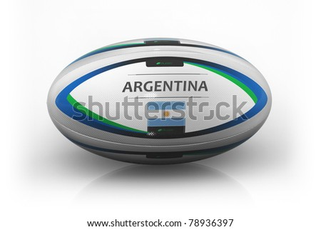 Rugby Ball  Argentina - stock photo