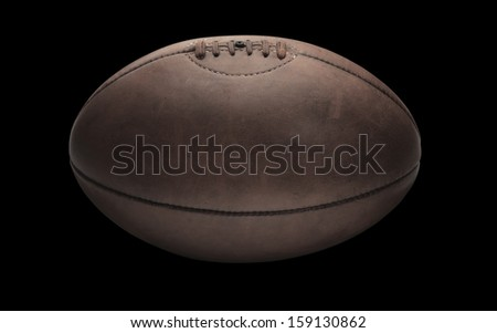 Rugby Ball Black - stock photo