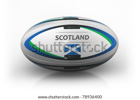 Rugby Ball  Scotland - stock photo