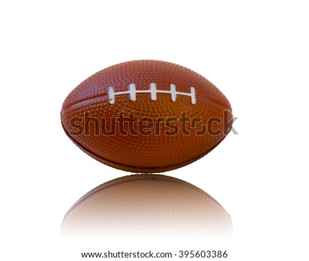 Rugby balls isolated on white background.