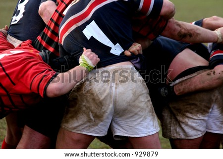 Rugby Maul - stock photo