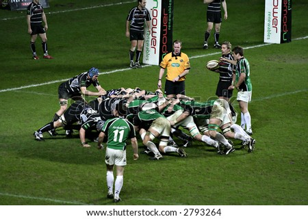 Rugby - Ospreys Vs. Connacht in the Magners League - stock photo