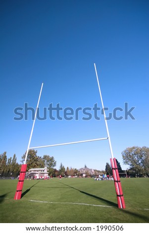 Rugby posts - stock photo