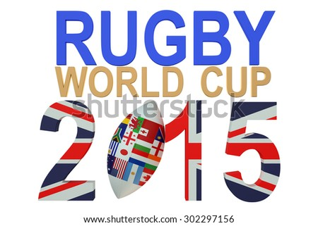 Rugby World Cup 2015 Great Britain concept isolated on white background - stock photo