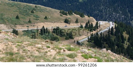 Rugged Mountain Road - stock photo